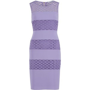 Gina Bacconi crochet and crepe banded dress, $339 at House of Fraser