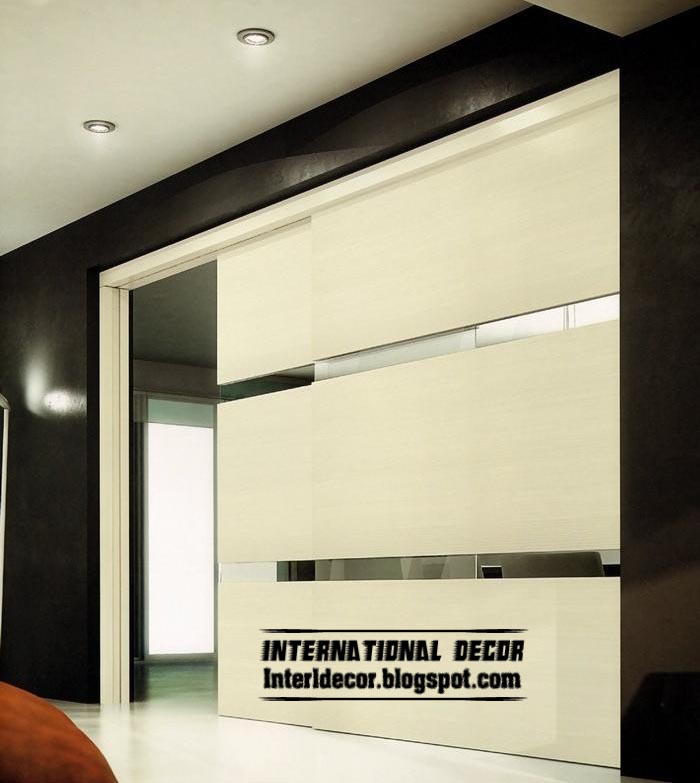 Modern sliding door designs wide for office room interior