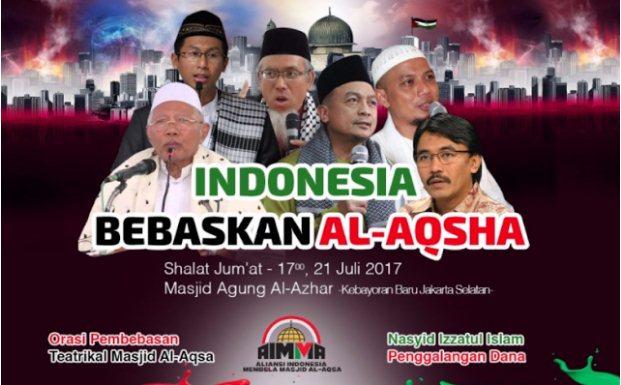 Hari ini, UBN Pimpin Aksi Bela Palestina di Masjid Al-Azhar Jakarta