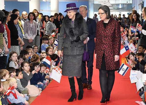 Danish Princess Benedikte officially opened the new building of the CIS - Copenhagen International School in Copenhagen. Crown Princess Mary. Newmyroyals
