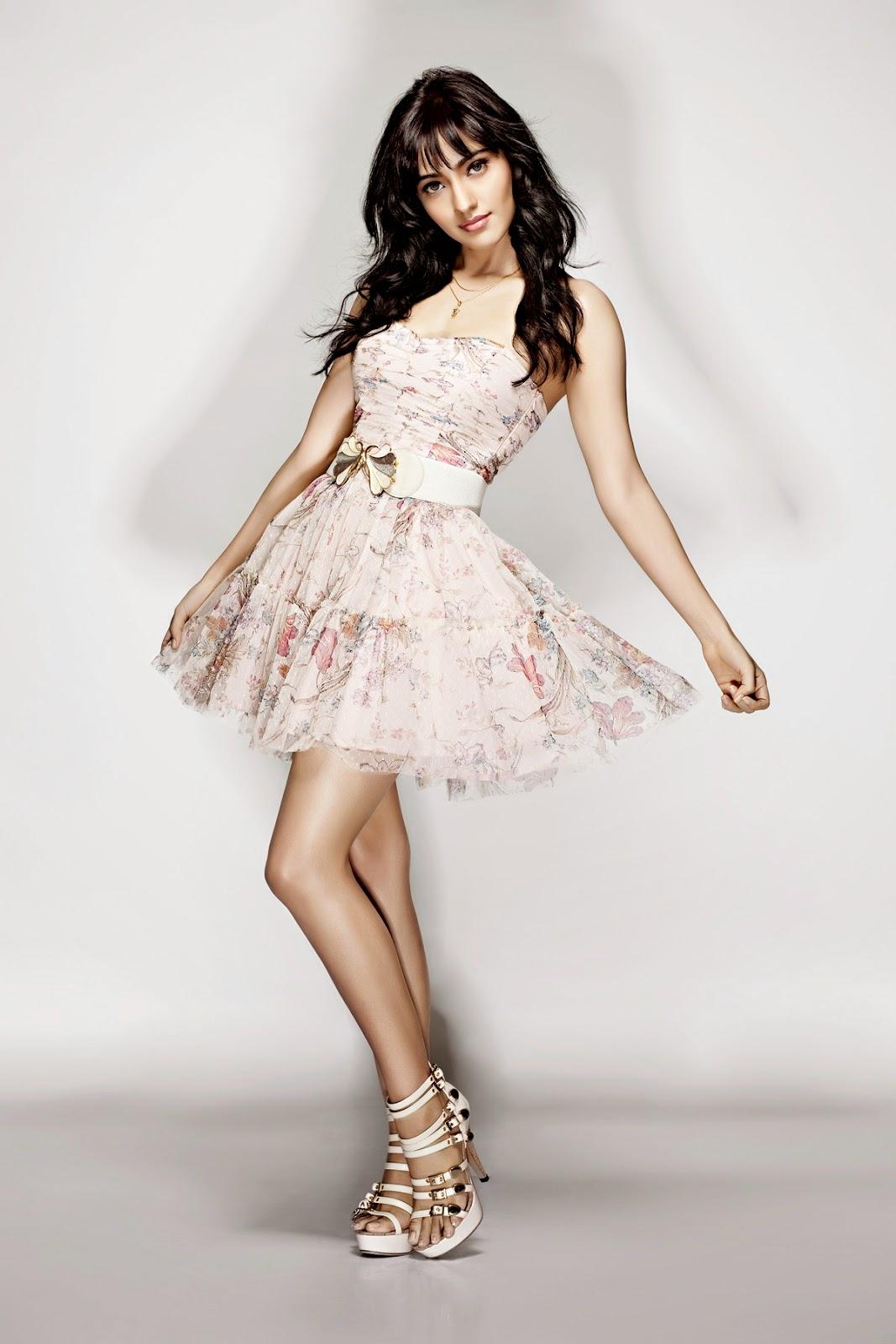 Neha Sharma in a Sexy Strapless Mini-dress
