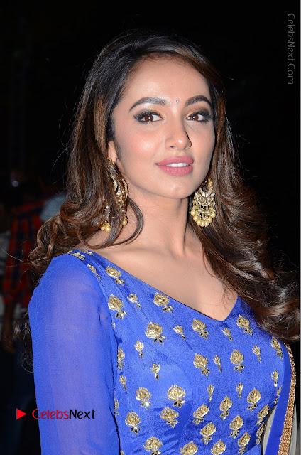 Telugu Actress Tejaswi Madivada Pos in Blue Long Dress at Nanna Nenu Na Boyfriends Audio Launch  0001.JPG
