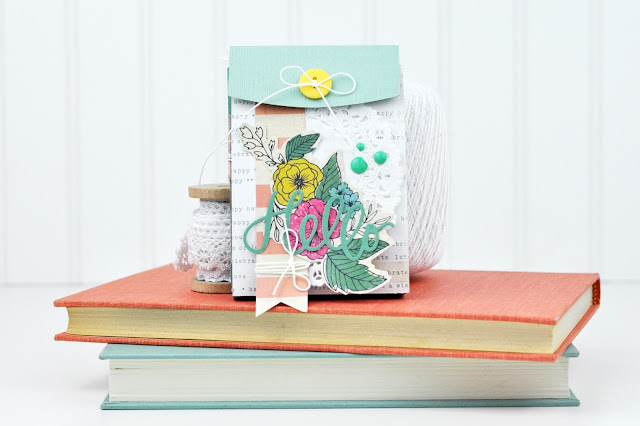 Sizzix Die Cut Pocket Mini Album created for Scrapbook & Cards Today Magazine by Jen Gallacher. (Video Included.)