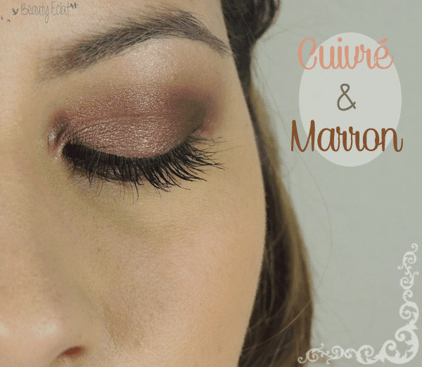 tutoriel maquillage cuivre marron