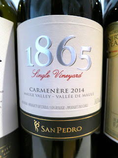 San Pedro 1865 Single Vineyard Carmenère 2014 - Maule Valley, Chile (89 pts)