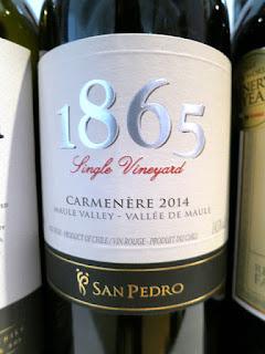 San Pedro 1865 Single Vineyard Carmenère 2014 - Maule Valley, Chile (89 pts)