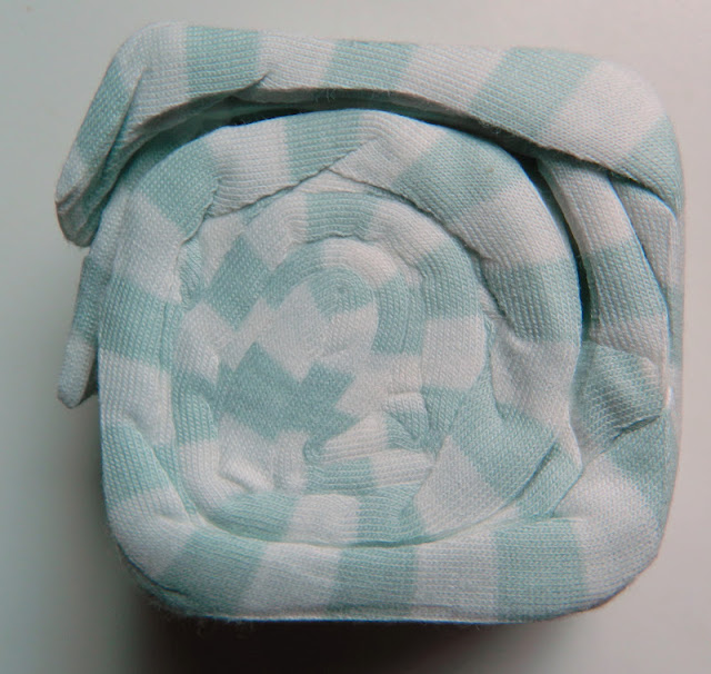 mint and white stripe shrink wrap scarf