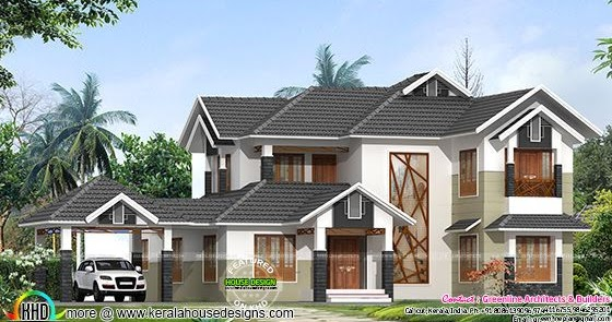 4 Bedroom Modern Villa In 2600 Sq Ft Kerala Home Design