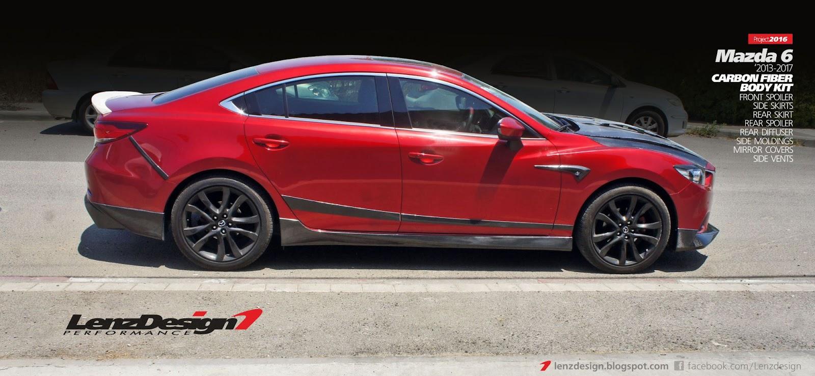 Mazda 6 GJ 2013-2017 Lenzdesign Performance Carbon Fiber ...