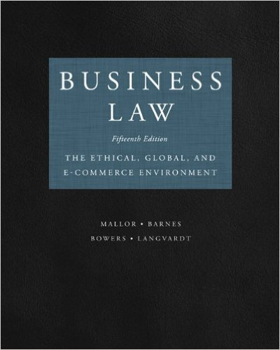 Business law 14th edition mallor | testbankster student test banks.