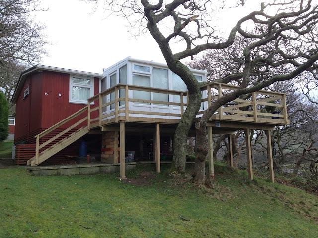 Decking conservatory Tywyn