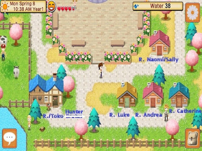 Map dan Bangunan di Harvest Moon Seeds of Memories