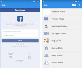 تحميل فيديوهات من الفيس بوك للاندرويد .