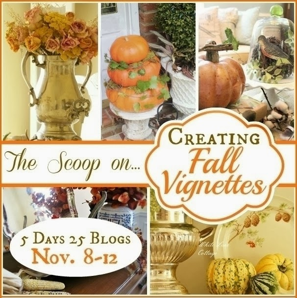 How to Create Fall Vignettes - lots of fall decor tips to bring the gorgeous colors and textures of autumn into your home!
