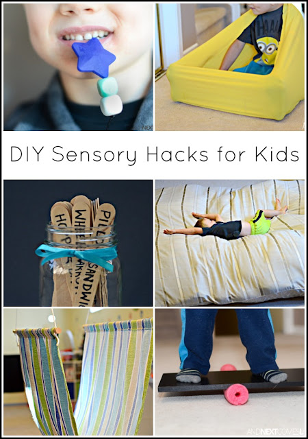 DIY sensory hacks for kids with autism and/or sensory processing disorder from And Next Comes L