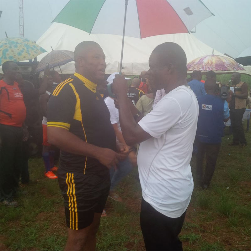Anambra speaker Rita Maduagwu plays football as House of Assembly defeats NUJ