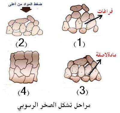 مراحل تكون الصخور الرسوبية