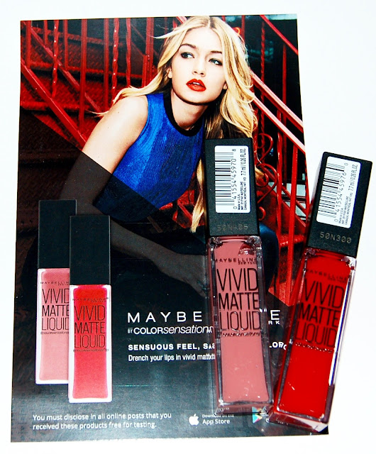 Maybelline Vivid Matte Lip Colors