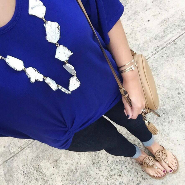 stylish mom, marble necklace
