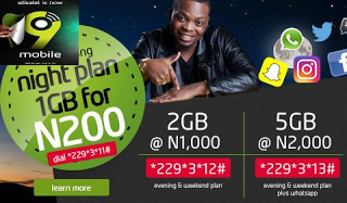New 9Mobile Data Plans, Prices and Activation Codes