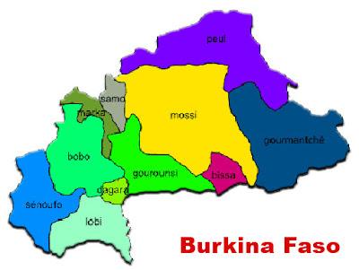 image: Burkina Faso map blank color