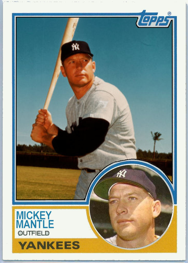 Cards That Never Were 1983 Topps Mickey Mantle