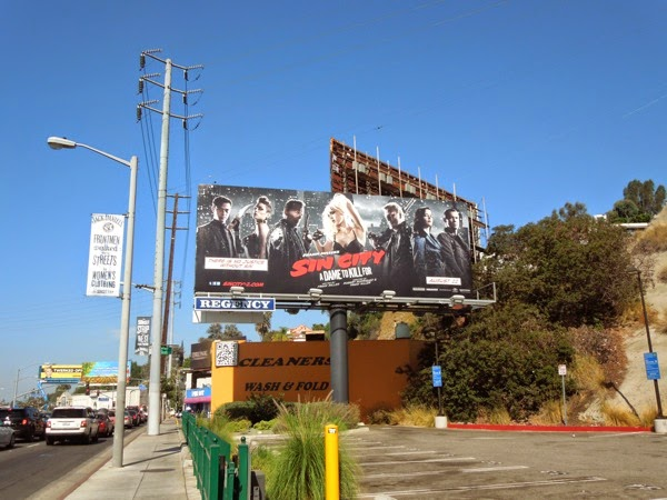 Sin City A Dame To Kill For movie billboard