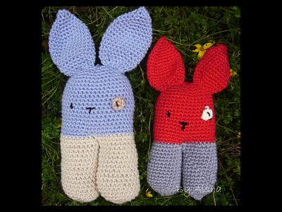 conejos amigurumi con patron gratis hecho a mano