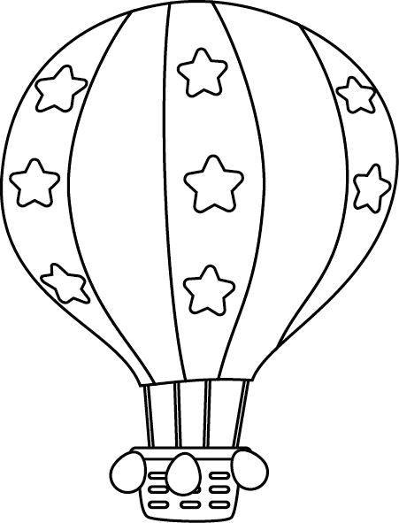 Tranh tô màu khinh khí cầu trang trí ngôi sao