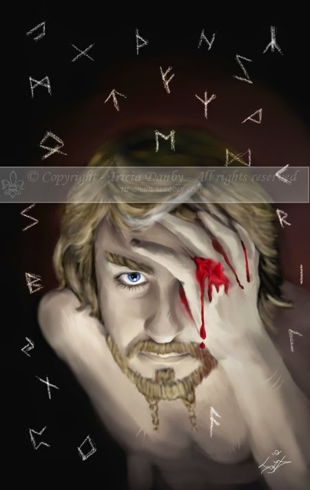 Odin and The Runes by Enchanted Visions Artist, Tricia Danby