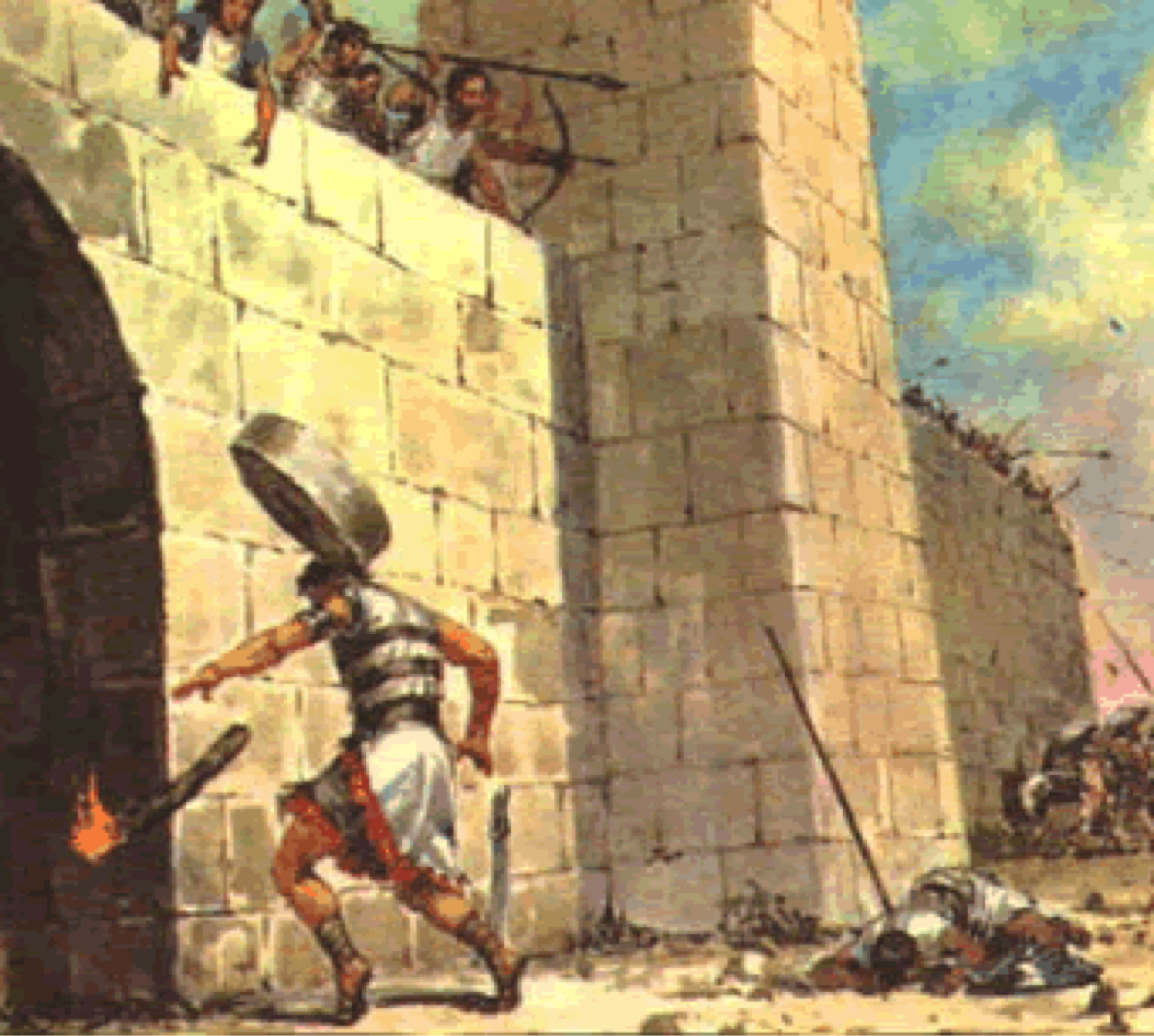 The death of Abimelech is initiated when a woman drops a rock on his head.