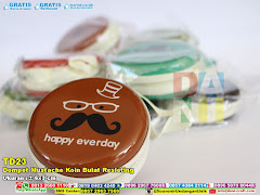 Dompet Mustache Koin Bulat Resleting