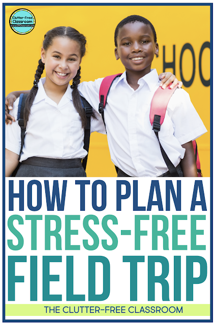Plan field trips for the kids in your elementary classroom with these classroom management tips and fun activities from the Clutter Free Classroom. Teach each student the procedures, routines, strategies, and techniques to ensure an easy field trip.