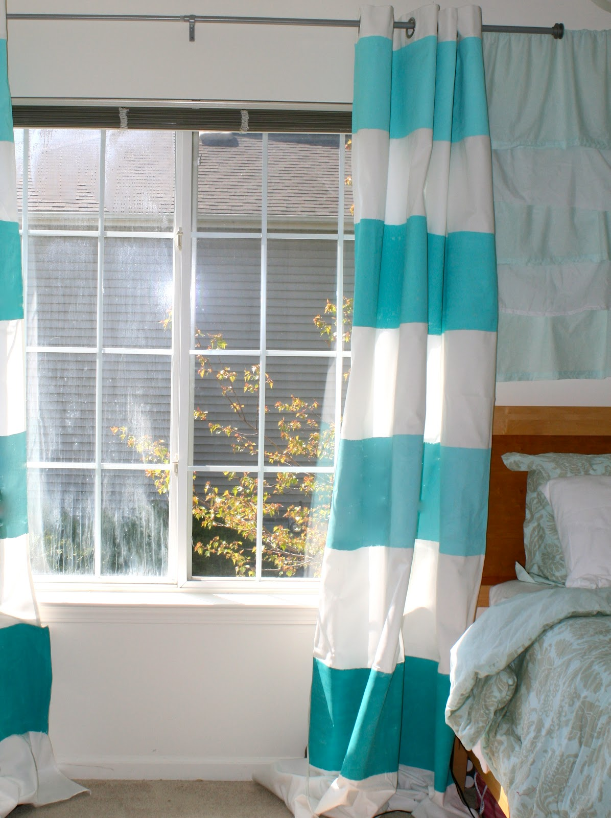 La Vie Diy Diy Ombre Striped Curtains
