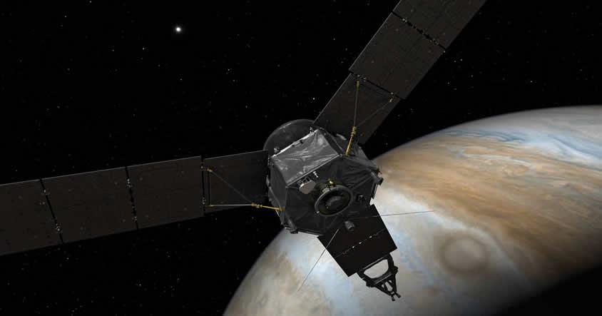 Nave espacial Juno de NASA a pocas horas de llegar a Júpiter