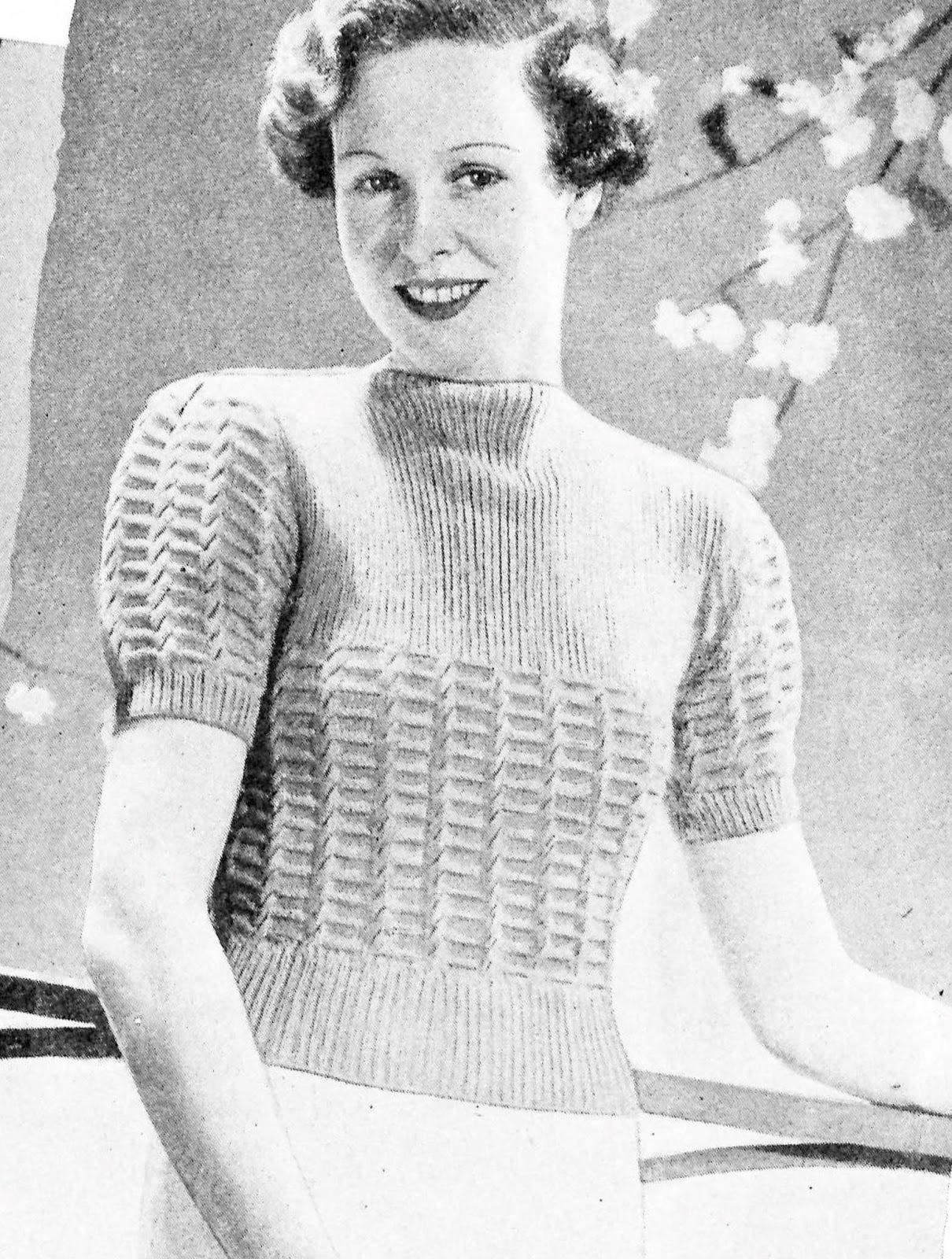 9b0165106 The Vintage Pattern Files - Free 1930 s Knitting Pattern - Easy to Knit and  Charming