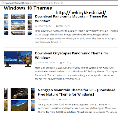 Situs penyedia tema windows 10c