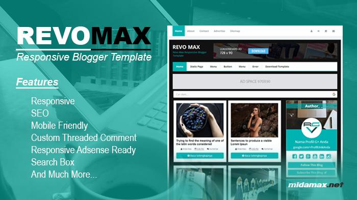 Free Download Revo Max Responsive Blogger Template