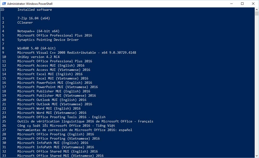 Hướng dẫn tạo Powershell Script gỡ bỏ cài đặt của phần mềm đã cài trong Windows
