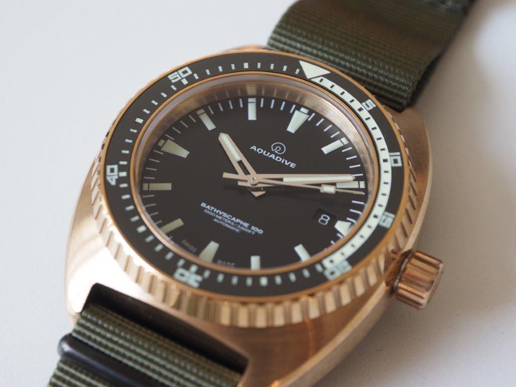 Oceanictime aquadive bathyscaphe 100 bronze mkii - Bronze dive watch ...