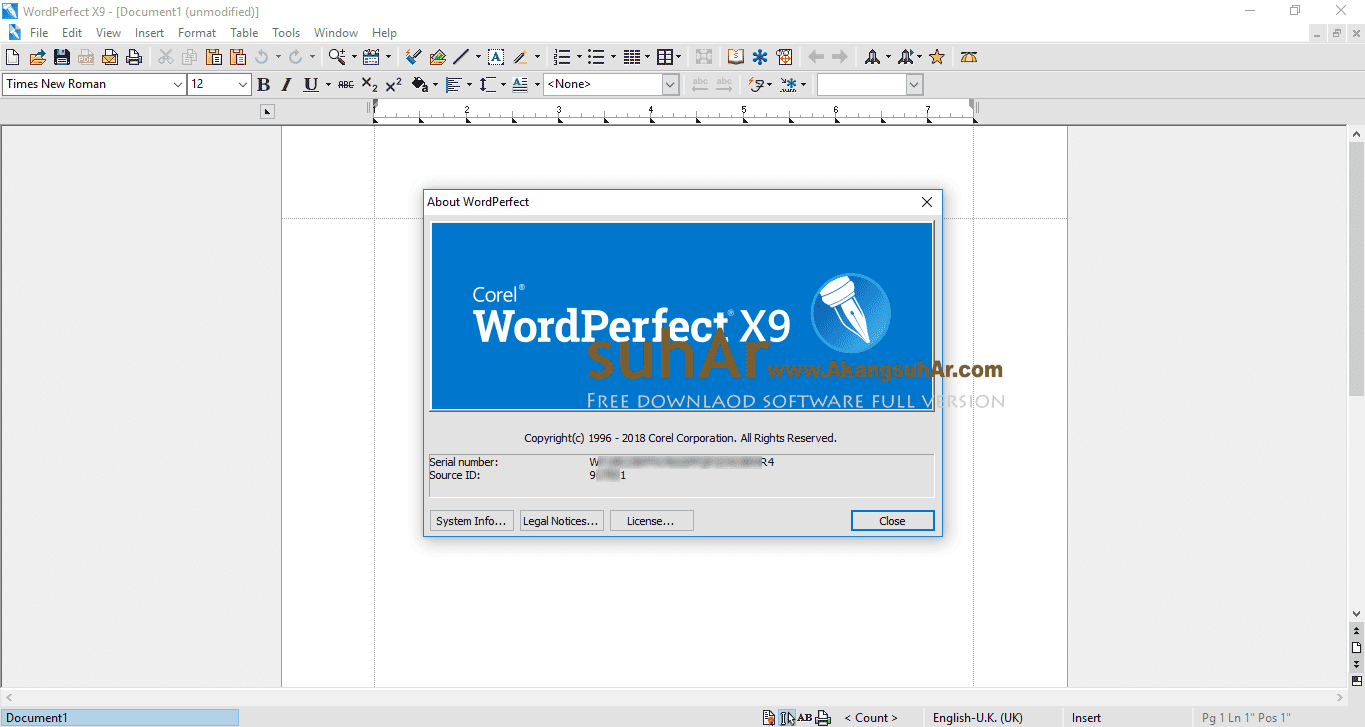 Free Download Corel WordPerfect Office Standard Full Version, Corel WordPerfect Office Standard Plus Serial Number