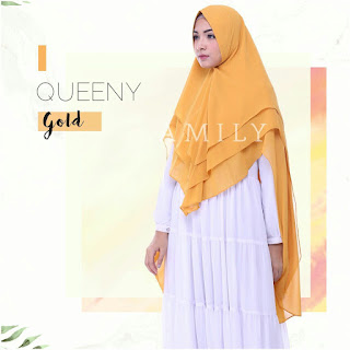 Hijab Amily Khimar Queeny Gold
