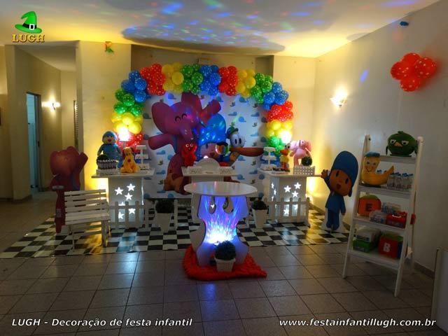Decoração provençal com temas masculinos - Festa infantil Pocoyo