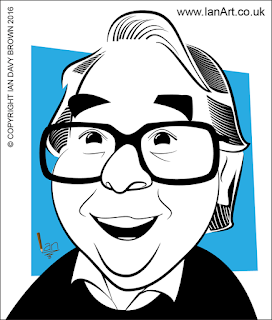 Ronnie Corbett Caricature by Ian Davy Brown