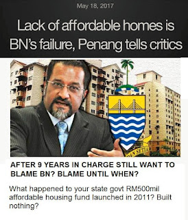 How many more years that DAP wants to blame BN for Penang's problems?