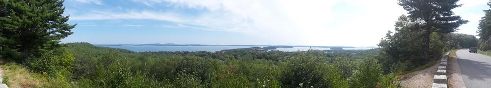 Vue dégagée sur les îles d' Acadia National Park