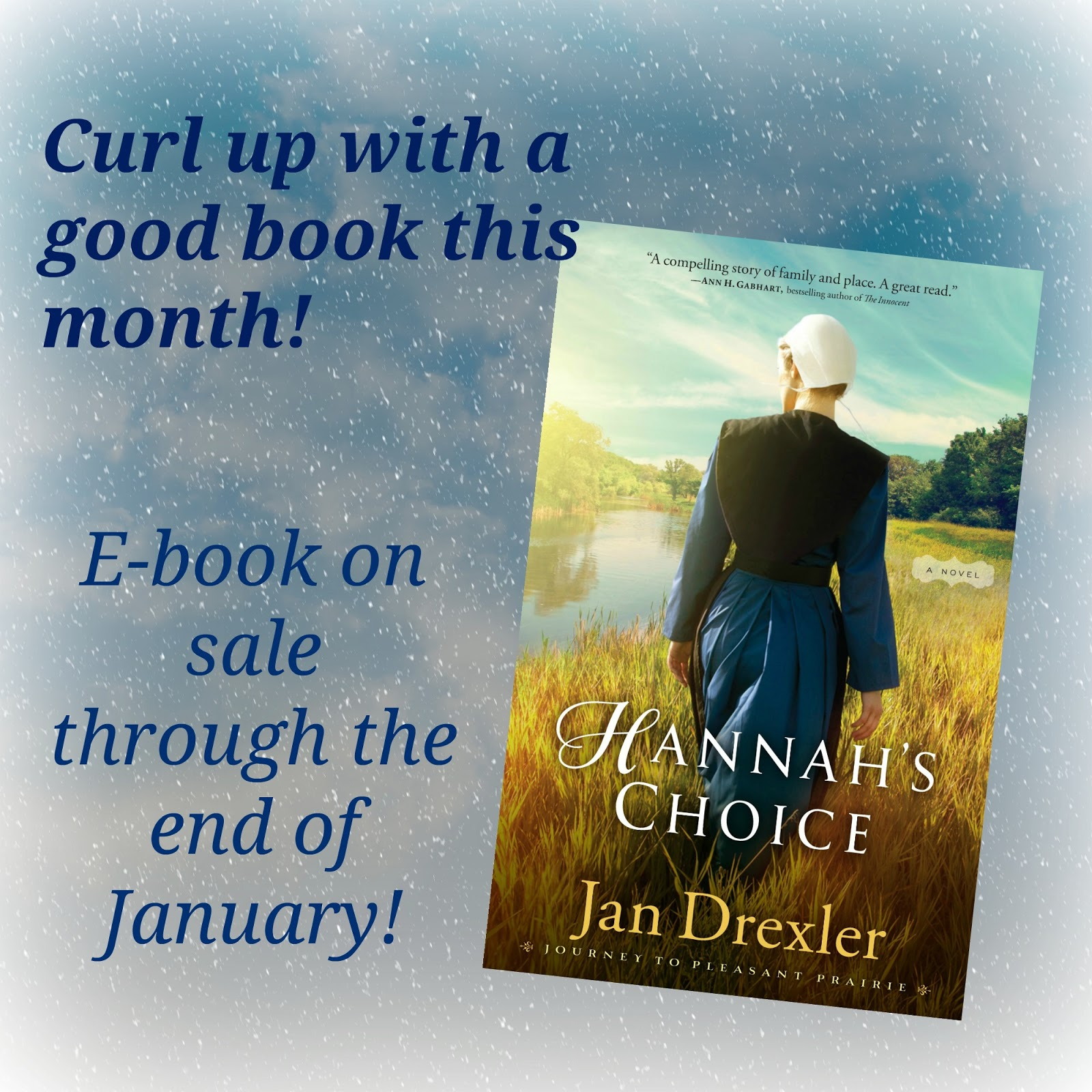 ... Journey to Pleasant Prairie series is on sale! Pick up your e-book copy  of Hannah's Choice at your favorite on-line retailer (Barnes and Noble,  Amazon, ...