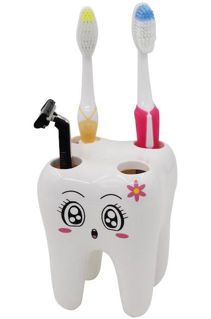 Miss Teeth Toothbrush Holder