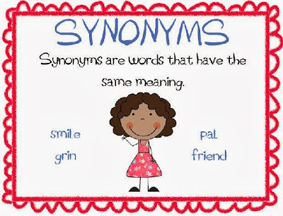 Smiling and Shining in Second Grade Antonyms and Synonyms