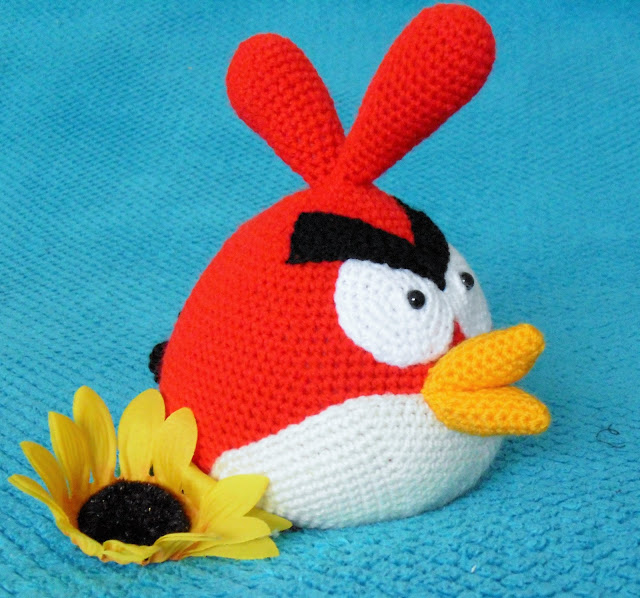 #crochet #amigurumi #soft #toy #red #angry #bird